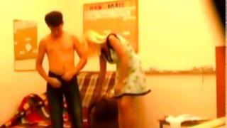This hot guy is taking off cloth of this seductive girlfriend to drill her