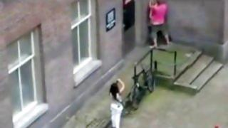 Horny guy starts drilling this innocent girlfriend and she loves it a lot