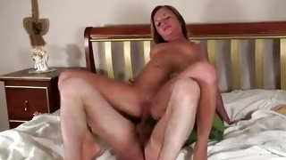 Nude whore lying on her back and is getting pussy stretched