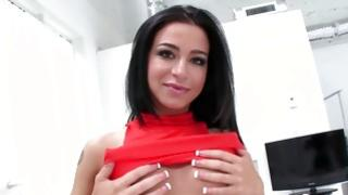 Homemade film with the sweet gf is squeezing her perfect boobs