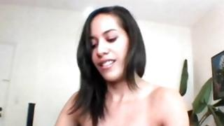 Gloomy haired amateur girlfriend is getting her marvelous mouth moved on the furious pecker