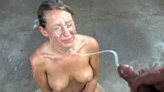 Slut loves to feel this penetrator's stream on her pretty face
