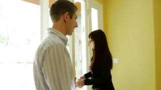 Watch on awesome brunette sweetheart