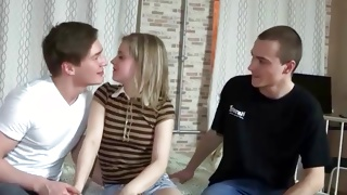 Odorous young cutie is sexually kissed by dirty fellow